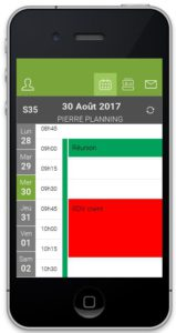 Visualisation Swipe gauche/droit - App mobile Serenovia