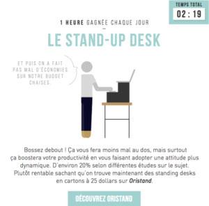 Stand up desk - méthode de productivité Serenovia