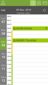 App. Serenovia - Agenda