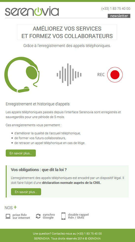 Enregistrement d'appels - Formez vos collaborateurs - Newsletter 02-04-15