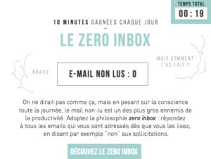 Zero Inbox - méthode de productivité Serenovia
