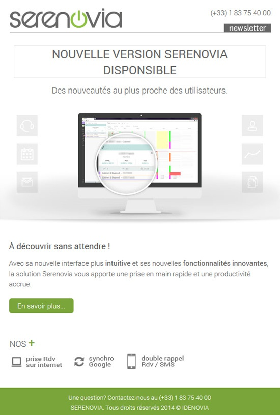 Nouvelle version Serenovia - Newsletter 12-06-14
